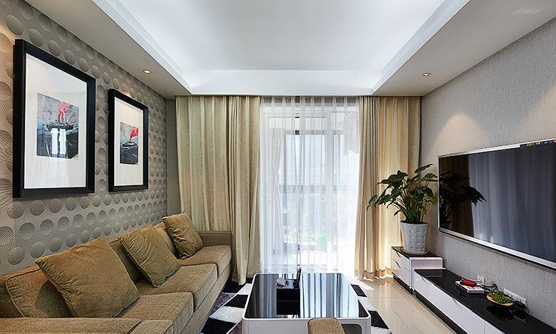时尚简约现代客厅家装图
