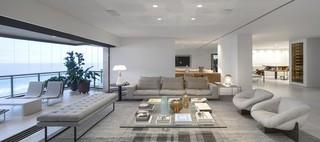 时尚明亮现代简约风开放式海景房公寓设计