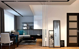 时尚黑白灰现代都市风情公寓装饰效果图
