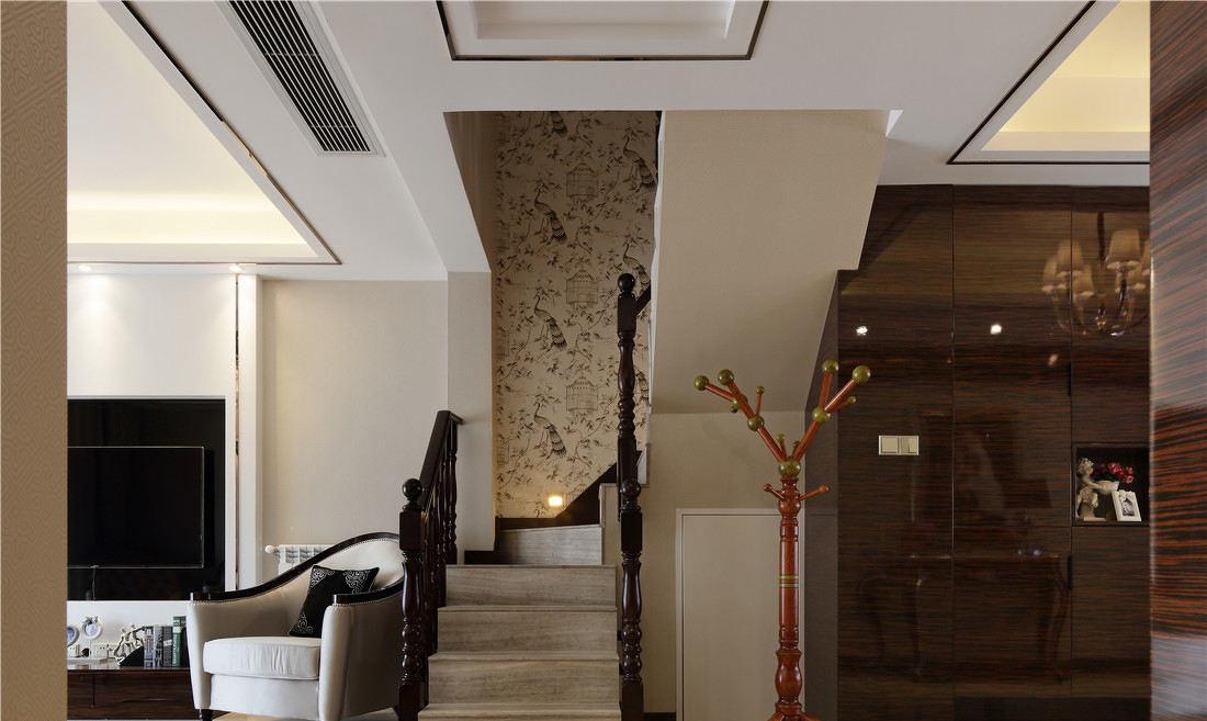现代别墅室内楼梯护栏设计