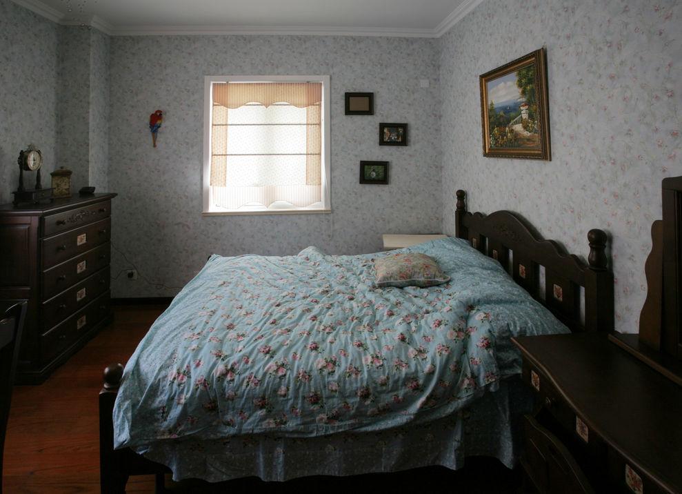 碎花欧式田园卧室装修效果图