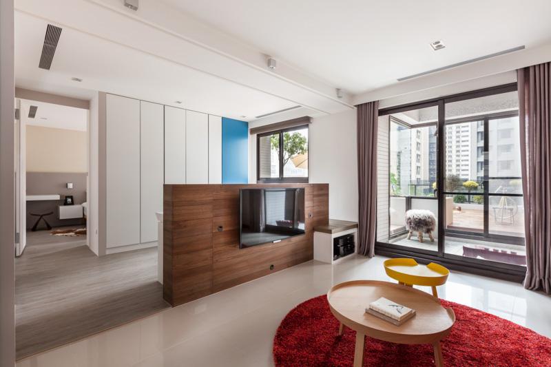 创意小清新宜家风小公寓带露台花园装饰