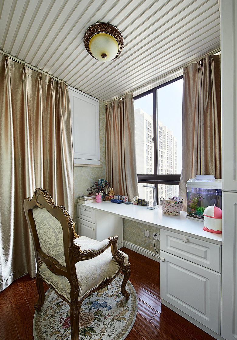 简约欧式设计书房窗帘效果图