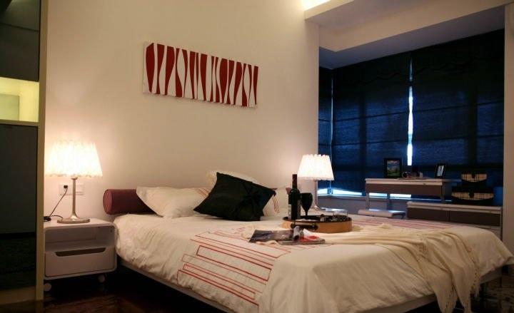 温馨简约现代风格卧室效果图