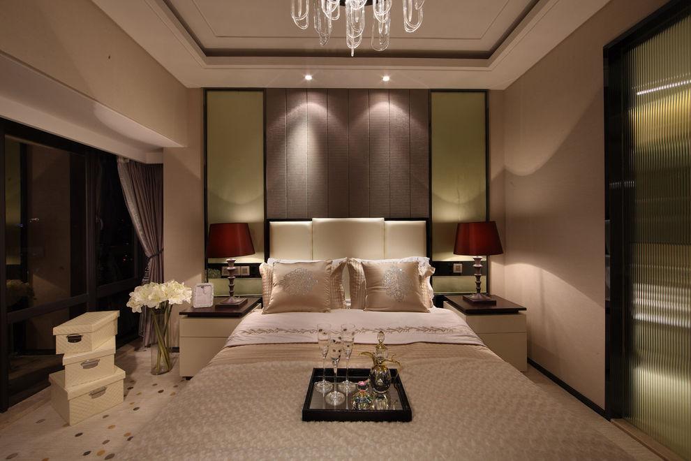 家装现代卧室美式装饰风格样板房欣赏