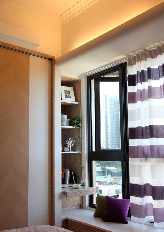 美式风格三室一厅窗户效果图