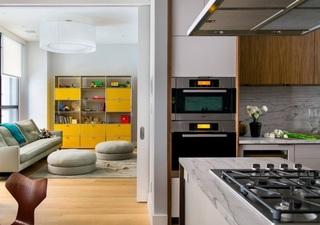 时尚现代厨房客厅隔断效果图