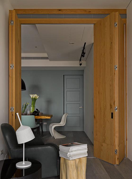 时尚混搭家居室内折叠门设计