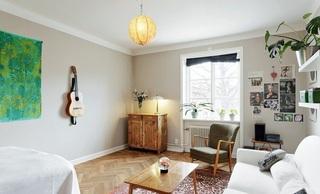 简约宜家北欧混搭小户型公寓装潢效果图