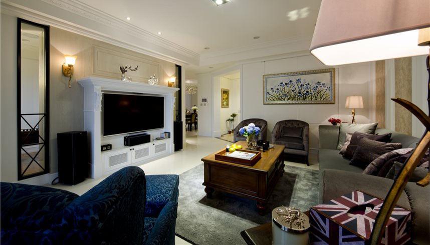 美式风格客厅电视背景墙设计