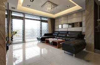 家装黑白配简约设计三室两厅效果图