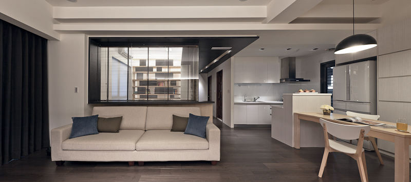 时尚现代原木风开放式小户型家居装饰