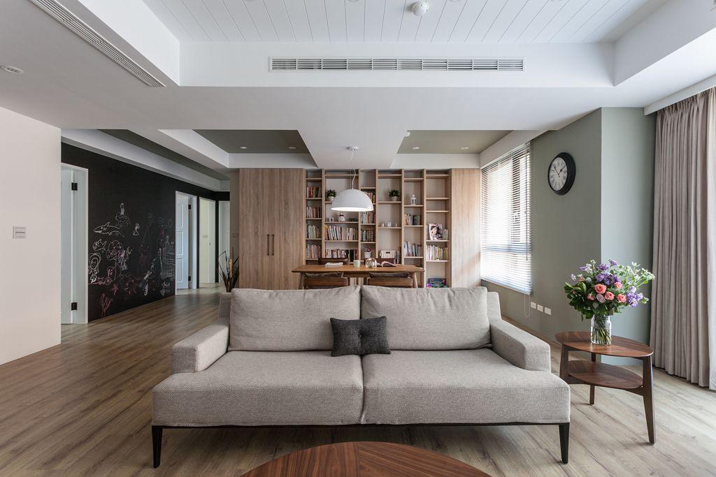 50平咖色简约宜家风公寓装潢设计欣赏