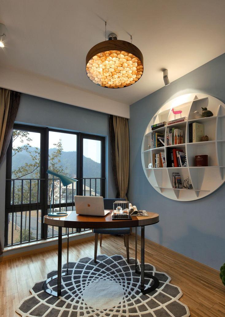 创意梦幻美式后现代书房家居设计