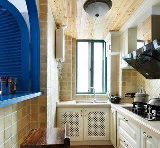 温馨休闲地中海厨房装饰效果图