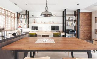 个性复古北欧工业风混搭公寓设计