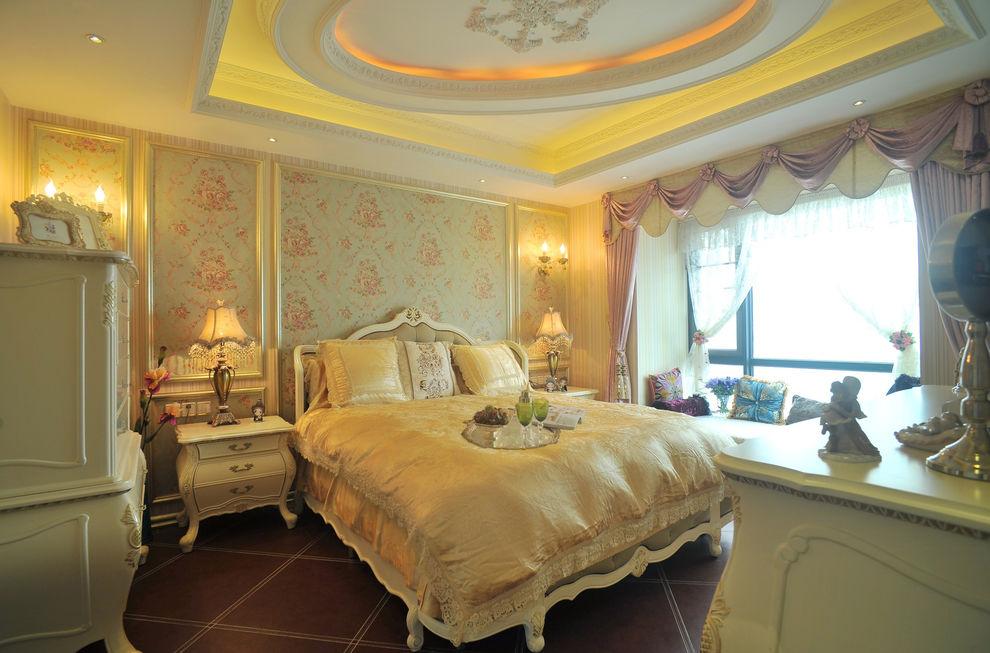 欧式优雅卧室装潢欣赏图