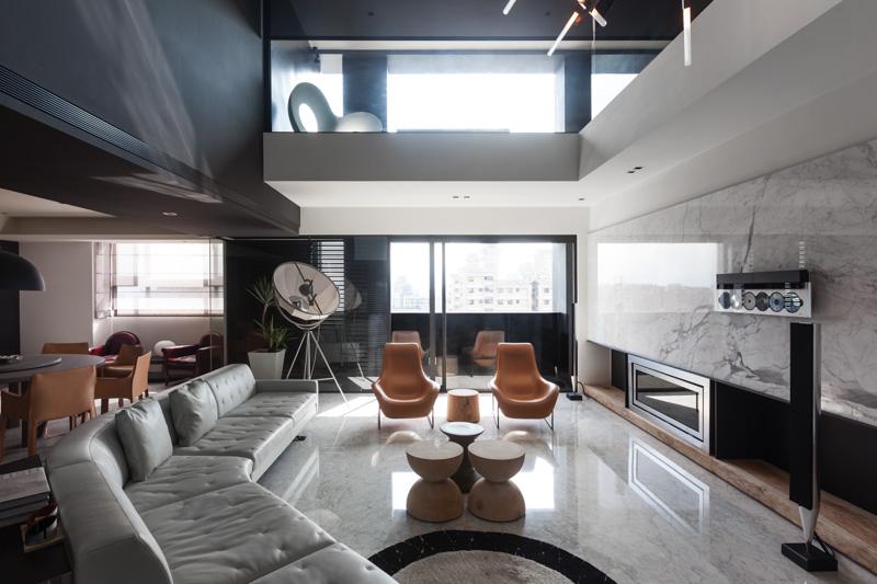 简约现代复式家装隔断设计
