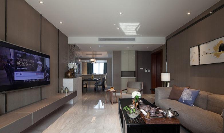 素雅现代客厅装饰效果图