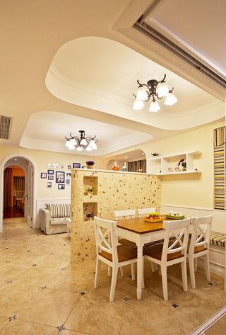 家装地中海风格卡座餐厅吊顶设计
