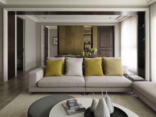 时尚清爽中性色现代宜家风格公寓效果图