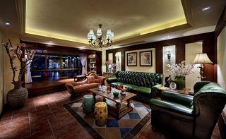 精美复古东南亚异域风混搭三室两厅装潢设计