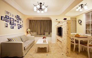 清新唯美简约地中海三室两厅装潢美图