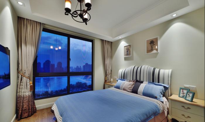 复古北欧装修风格卧室窗户设计装修图