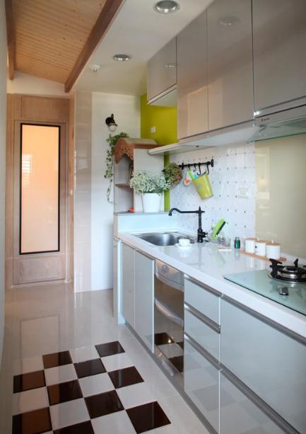 美式风格三室一厅厨房装修效果图