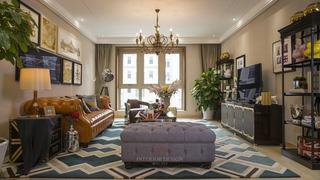 美式混搭风格三居室家装设计
