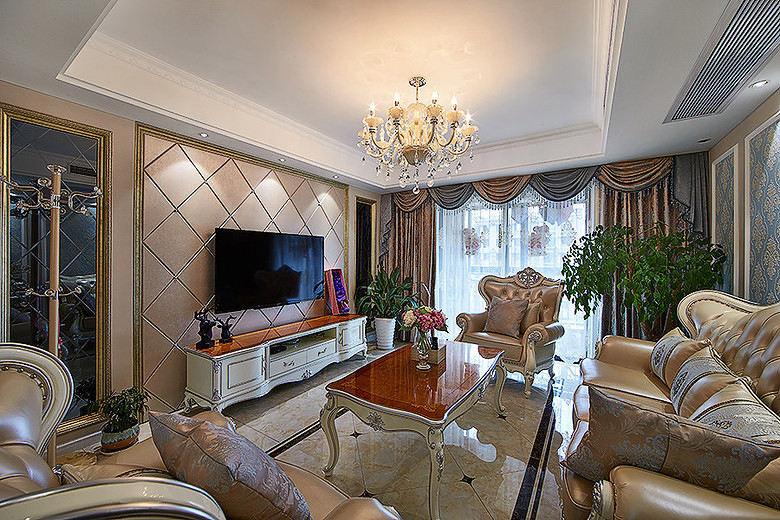 奢华巴洛克欧式客厅设计效果图大全