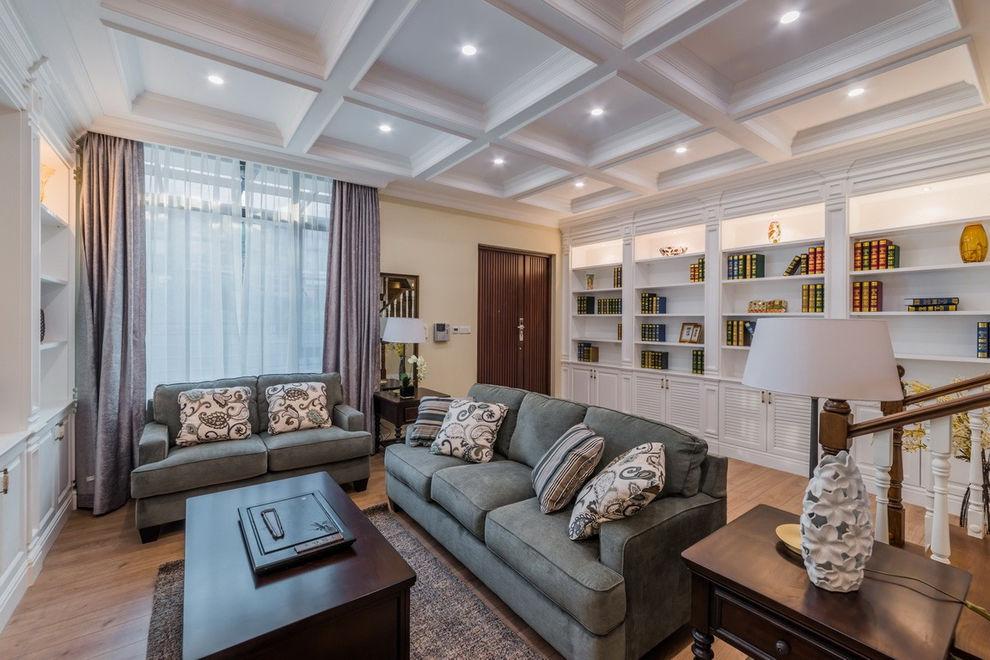 美式风格客厅吊顶效果图