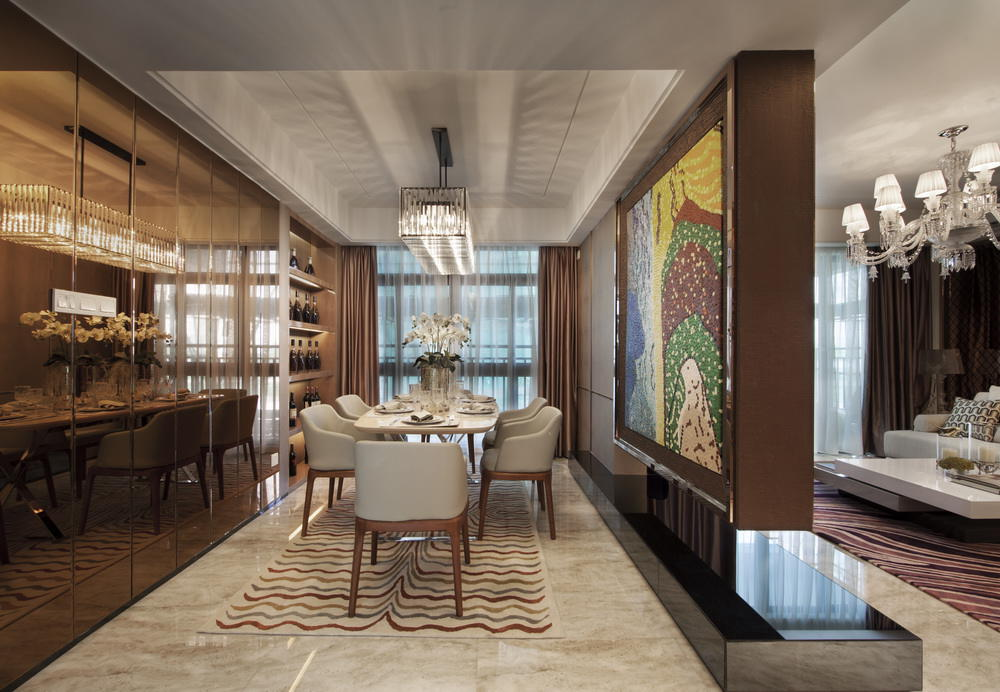 欧式风格设计餐厅装潢美图