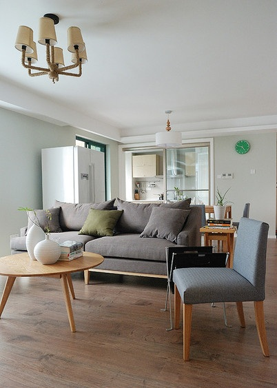 现代宜家风客厅沙发效果图