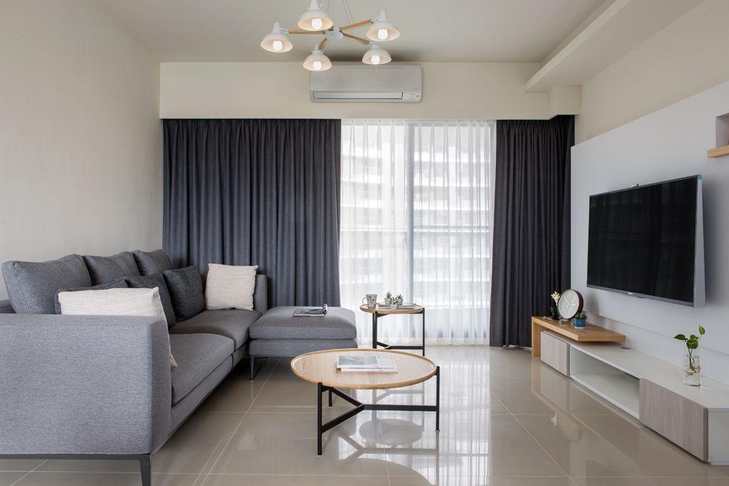 素雅舒适简约家装风格客厅装修图片