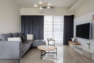 素雅舒适简约家装风格一室两厅装修图片