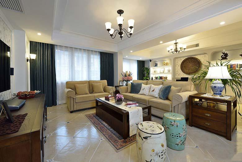 时尚优雅美式设计客厅效果图大全