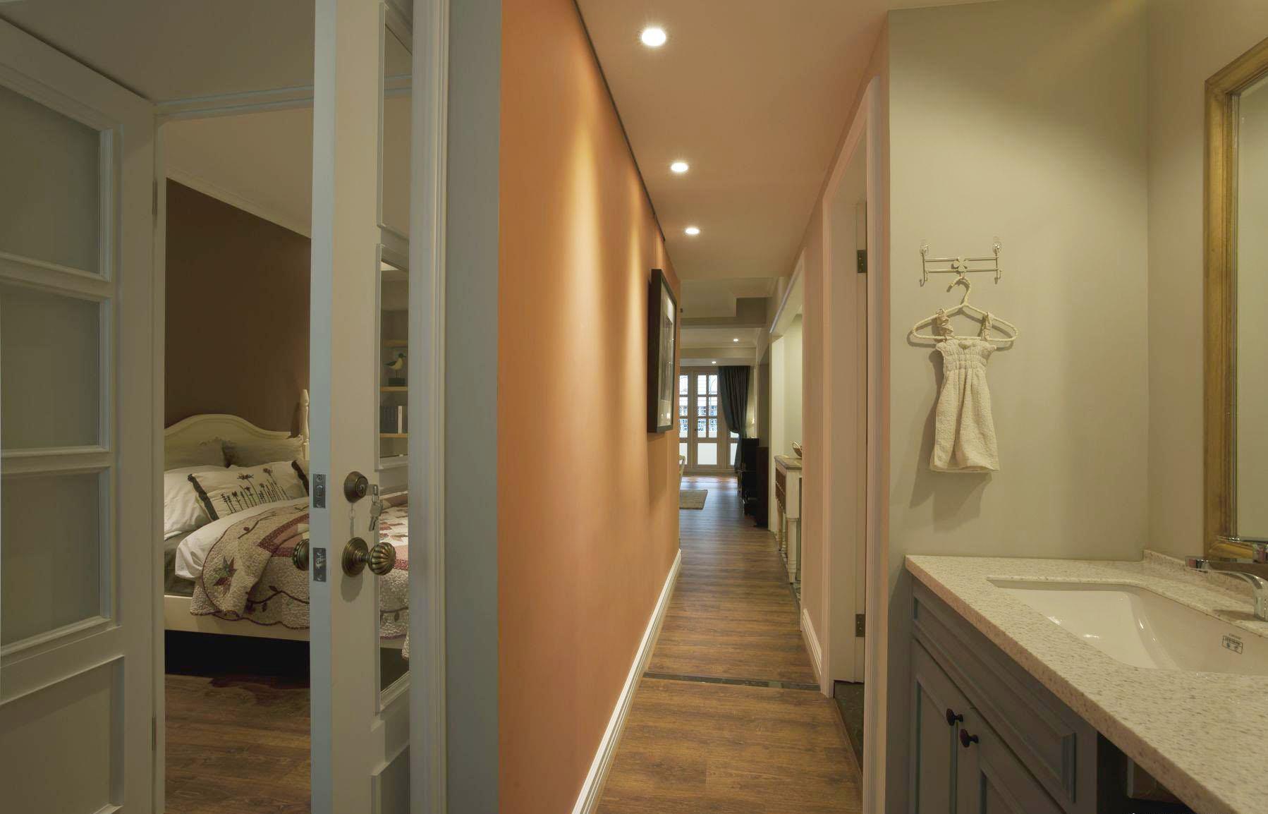温馨田园设计卧室过道过道效果图