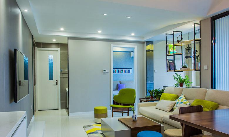 现代清新明亮93平米三居室装修美图