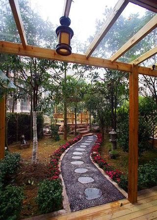 清新休闲宜家花园庭院设计效果图