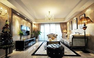 138平优雅豪华美式三室两厅美宅设计欣赏