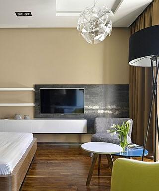 个性简约后现代混搭设计二居公寓装饰效果图