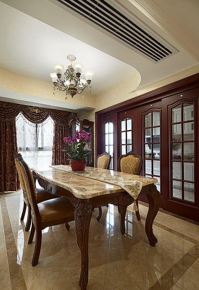沉稳典雅欧式家装餐厅设计大全