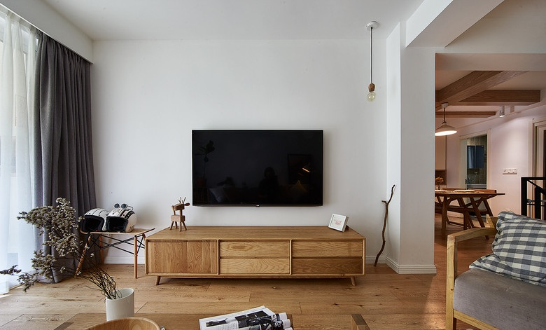 简约宜家北欧风格客厅电视柜装饰效果图