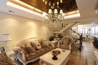 浪漫高贵欧式风格复式楼美宅效果图