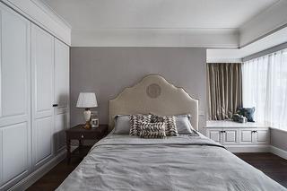 优雅浪漫简约美式卧室带飘窗效果图