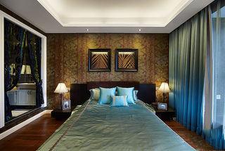 精美新古典东南亚家装卧室背景墙设计