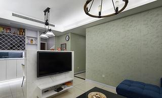 现代设计风格小户型家装电视墙半隔断效果图