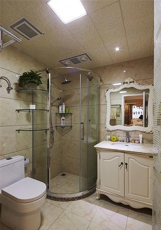 优雅简欧风卫生间淋浴房隔断设计