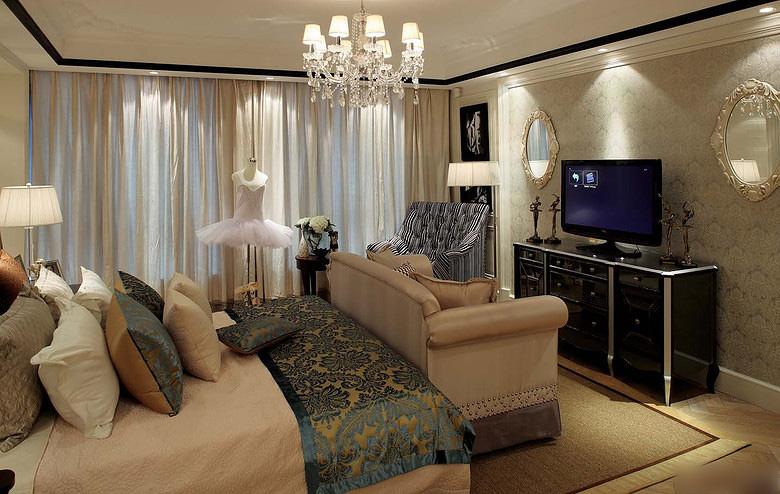 浪漫精致简欧风格卧室装饰大全